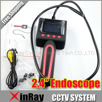 Freesipping 2.4inch Screen Pipe Inspection Camera  Endoscope Tube Snake Waterproof  10mm 4LED for Industrial Inspection,XR-IC1B
