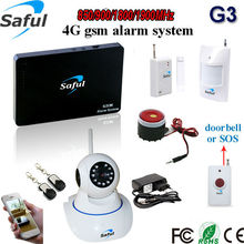 Free shipping 96 wireless zones+2 wired zones Androi/IOS APP wireless security wifi gsm home burglar alarm system with ip camera