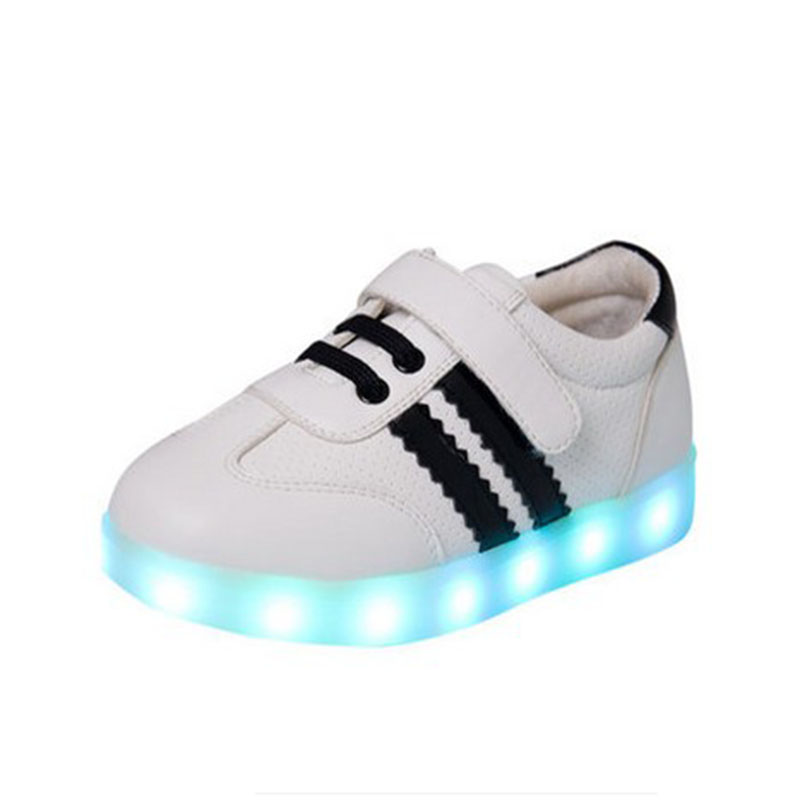 The new style brand 2015 children shine shoes LED for usb charging high help light luminous child sneakers tide of the girls<br><br>Aliexpress
