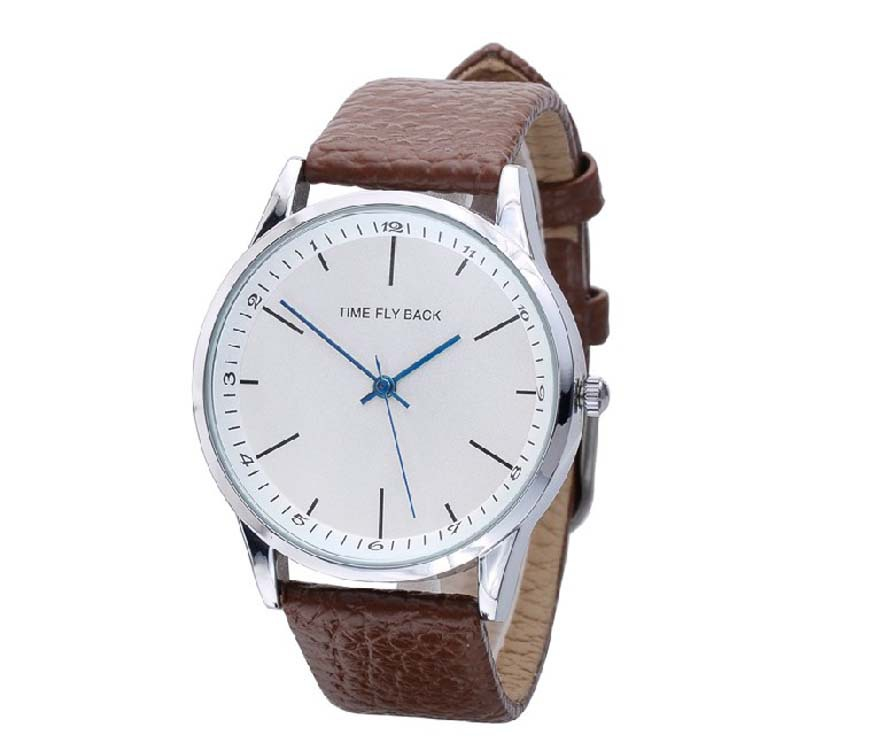 Brand Fashion Men Watches Anticlockwise Backwards Male Wristwatches Time Fly Back Quartz Analog Watches Leather Strap<br><br>Aliexpress