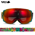 2017 New North Wolf 858 brand Professional Best Ski Goggles Men and Women Double lens antifog