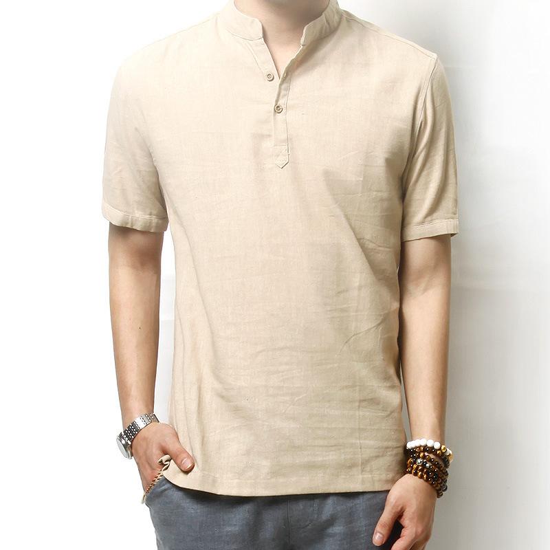 Popular Mens Linen Shirts Short Sleeve-Buy Cheap Mens Linen Shirts ...