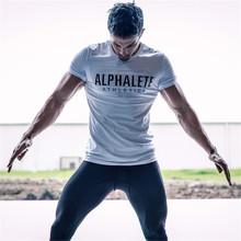 2018 бренд для мужчин футболка Фитнес для похудения рубашки для мальчиков Crossfit короткий рукав хлопковая одежда Мода Досуг О образным вырезом ...(China)