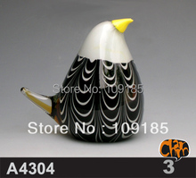 Glass Animal Craft Penguin Sculpture