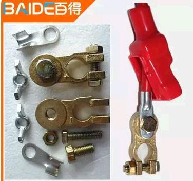 Car battery thicker copper fittings copper battery cable terminal connector card pile head head(China (Mainland))
