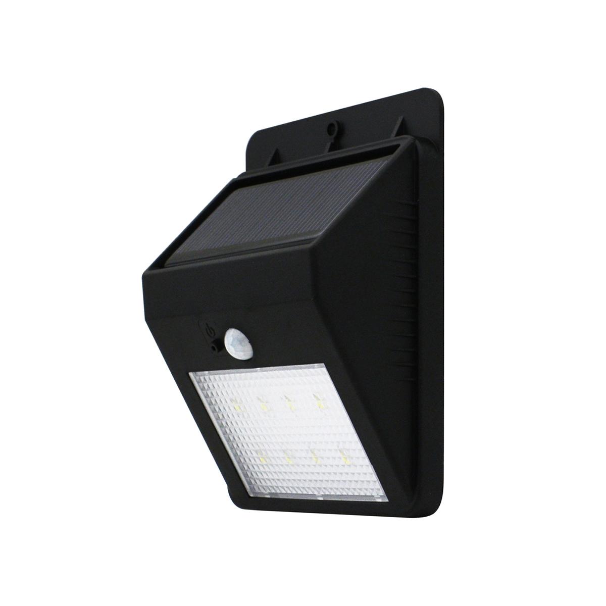 1.6W 160LM 6500K 8-LED Light+Infrared Sensor Controlled Solar Powered LED Light Lamp for Garden Path Fence Corridor Wall (White)