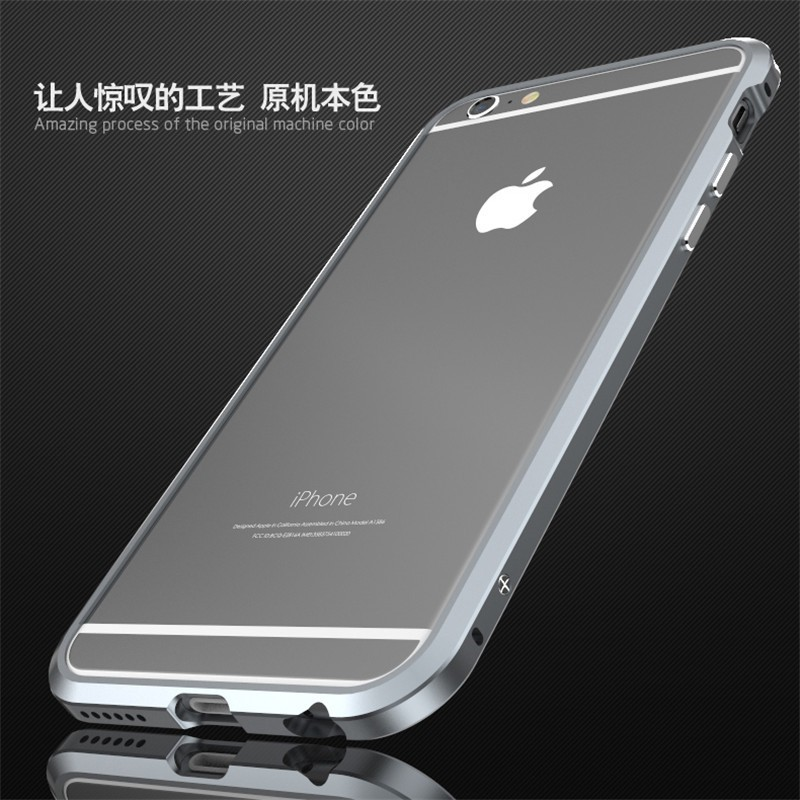 For iPhone6 Bumper Top-Quality Luxury Aluminum Metal Frame Case Cover For iPhone 6 4.7 inch Shockproof phones cases