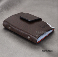 New 2015 women men genuine leather famous designer brand business bank credit Card holder bag case