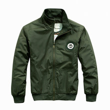 Spring New Mens Jacket Mens Air Force One Flight Male Mens Jackets Mens Jackets Army Green Bomber Jacket Military Fans(China (Mainland))