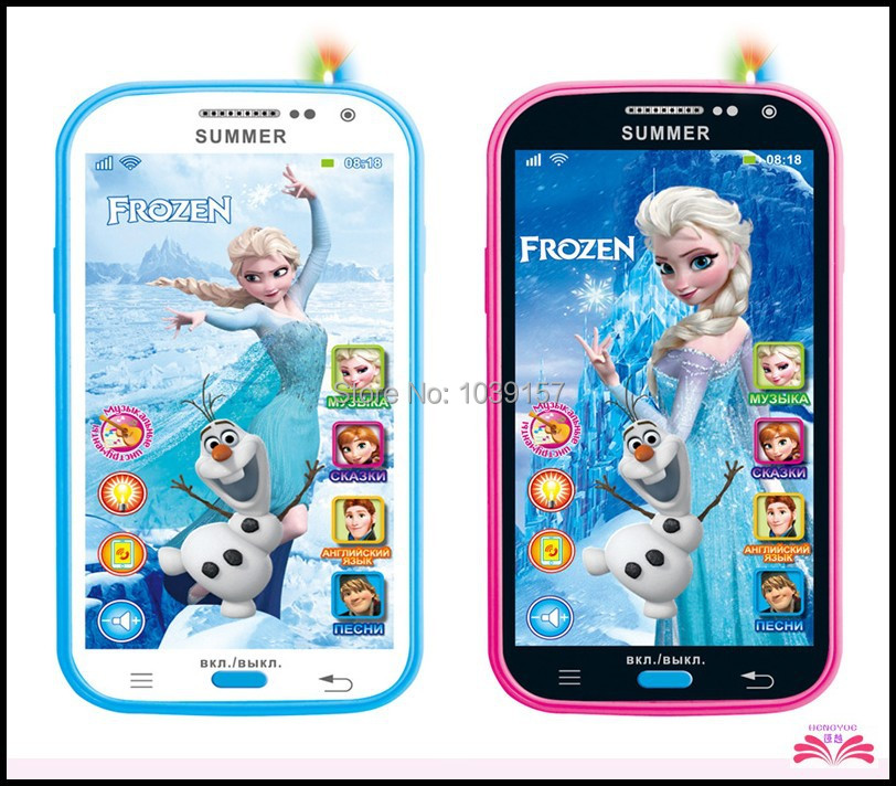 Free ship Talking Frozen within headset Learning & education Russian Language Baby Mobilephone Electronic kid's Toy phone(China (Mainland))