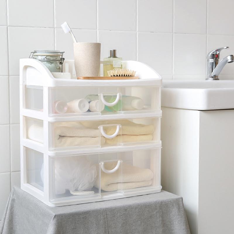 Bathroom shelf creative plastic drawer box makeup orgainzer multi-function kitchen orgainzer box bathroom accessories(China (Mainland))