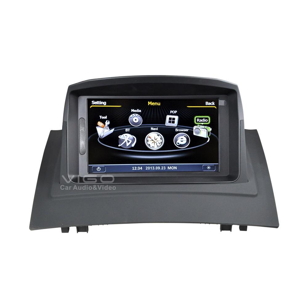 buy car stereo gps navigation for renault megane ii 2006 2009 radio rds dvd. Black Bedroom Furniture Sets. Home Design Ideas