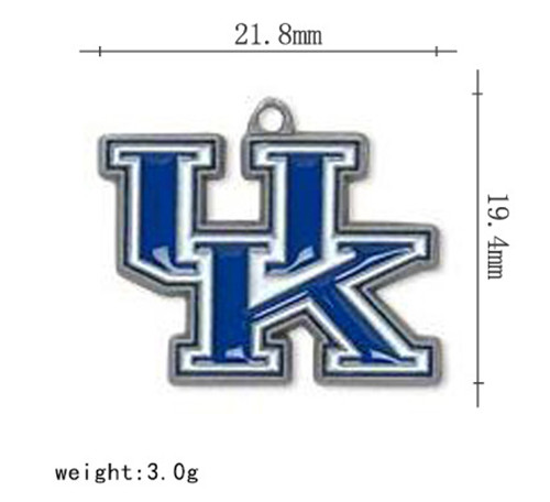 Newest cheap NCAA charm 21.80*19.40mm alloy Kentucky Wildcats logo charm,MC057,20pcs/lot,accept custom and mix order(China (Mainland))