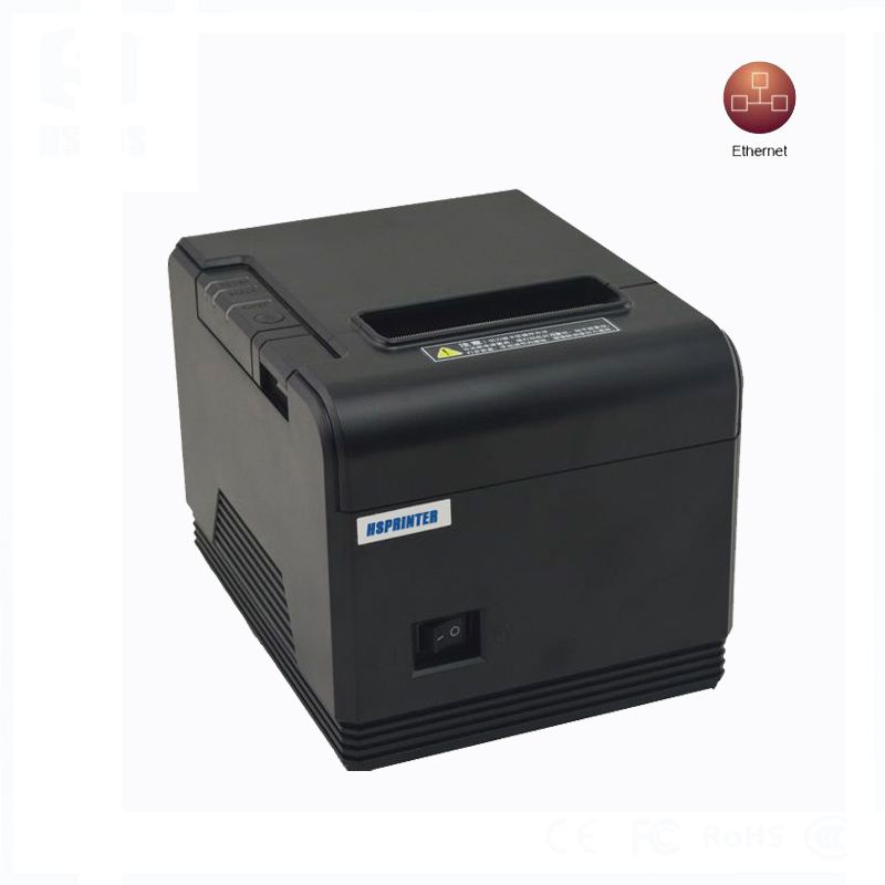 USB+Serial+Lan printing 200mm/s thermal receipt printer with auto cutter, 80mm high resolution print head small tickets printer(China (Mainland))