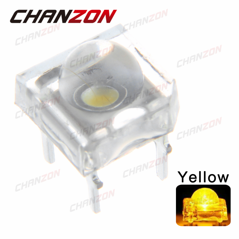 100pcs 5mm Water Clear LED Piranha Yellow Ultra Bright 5 mm Round Lens Light Emitting Diode LED Lamp Through Hole(China (Mainland))