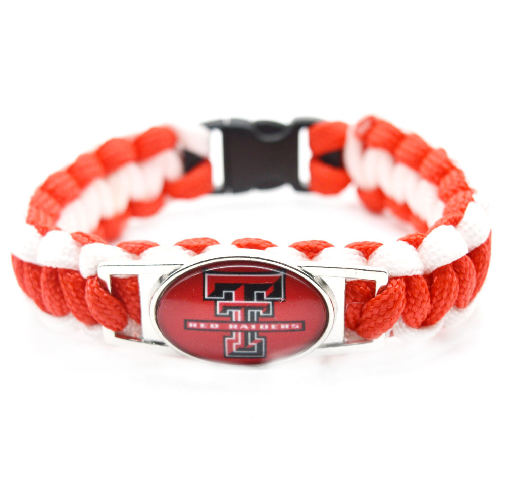 2017 New Fashion NACC Bracelet Texas Tech Red Raiders Braided Bracelet Men Women Lover Sport Bracelet Jewelry Gifts(China (Mainland))