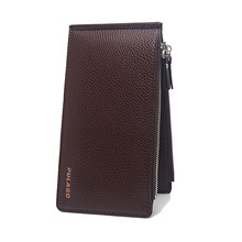 Baellerry Genuine Leather Wallets High Quality Vintage Famous Men Wallet carteira masculina billetera hombre Brief Wallets