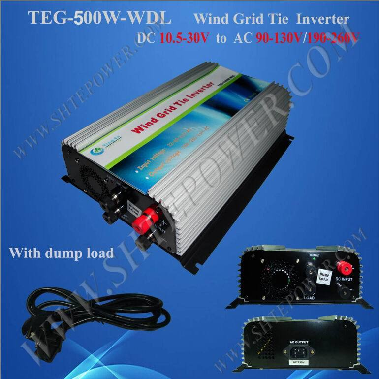 Hot selling 500w grid tie 24v wind inverter for 220v country(China (Mainland))
