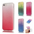 For Coque iPhone 5C Case Silicone Glitter Bling Back Cover iPhone 5C Transparent Edge Gradient Phone