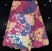 JC81-1!lovely colorful African net lace fabric,new arrival French lace fabric,big quality net lace for women dress!