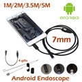 7mm Mini USB Android Phone Endoscope Camera 1M 2M 3 5M 5M Waterproof inspection Snake Tube
