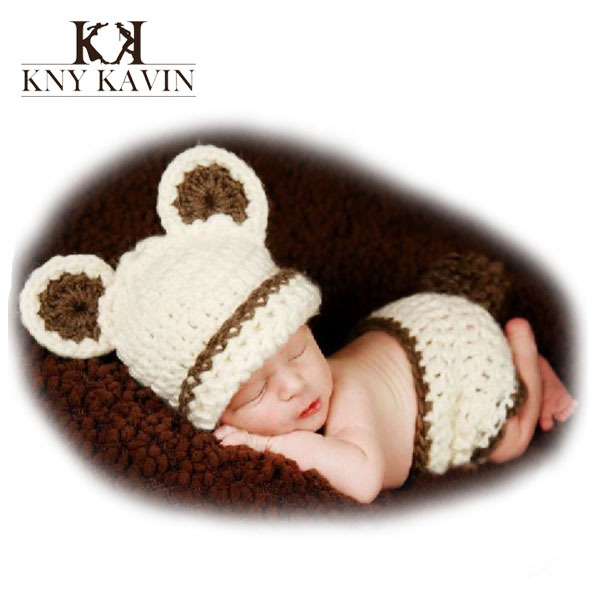 Brand Super Soft cotton hat baby clothing newboren infant photography props baby cap accessories crochet baby boy hat HK526(China (Mainland))