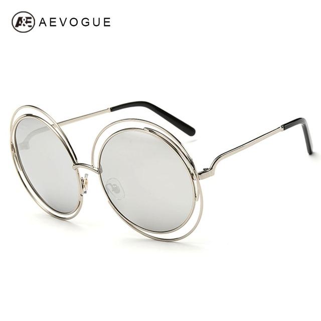 Aevouge бесплатная доставка новые фирменные солнцезащитные очки женщины выдолбите сплава рама высокое качество низкая цена солнцезащитные очки UV400 AE0175