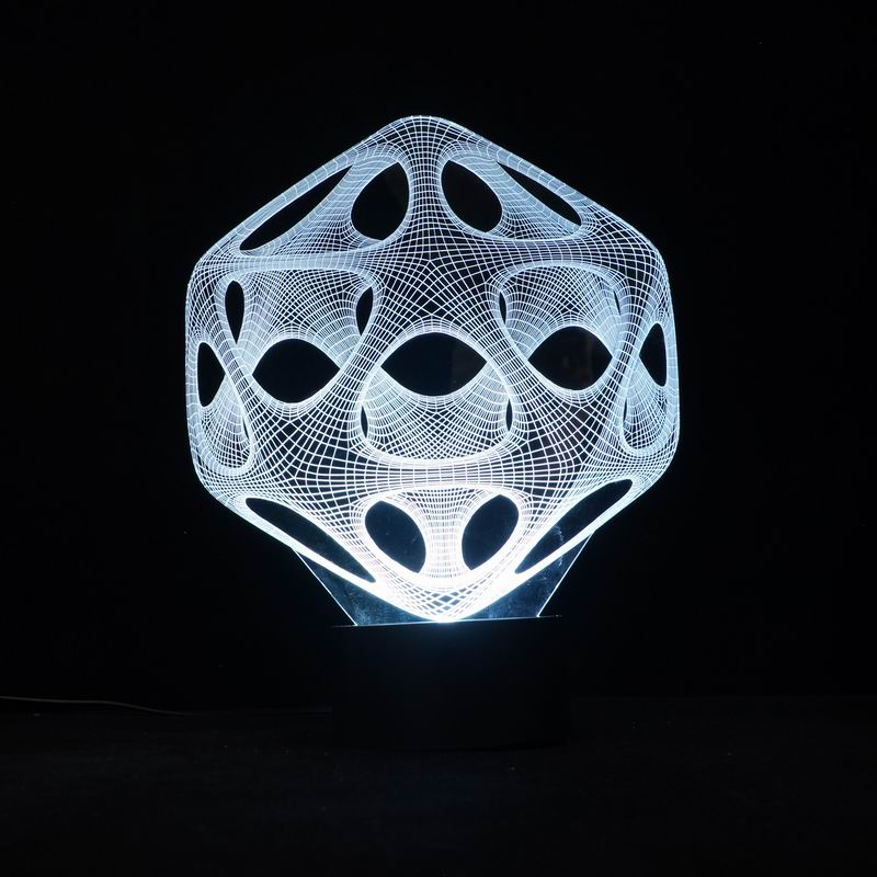 Samrt 3D Illusion LED Night Light Atmosphere Lamp with 7 Colors Changes FS-3072(China (Mainland))