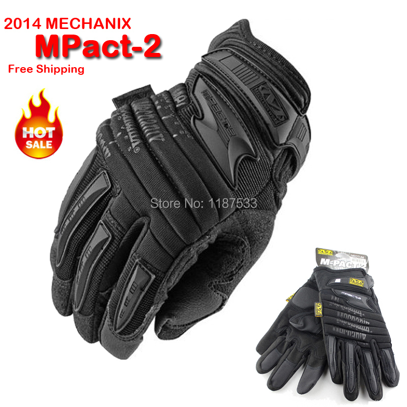 New Mechanix Wear M-Pact 2 Heavy Duty Protection Motorcycle Airsoft Military Tactical Bicycle Full Finger Gloves Free Shipping(China (Mainland))