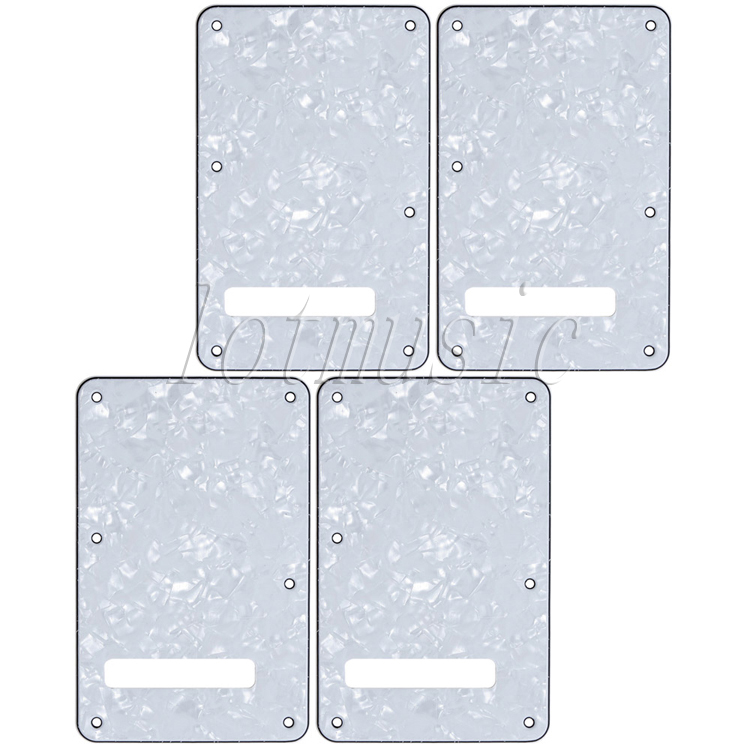 4Pcs White Pearl 3ply Back Plate Tremolo Cavity Trem Cover For Fender Strat Guitar Replacement(China (Mainland))