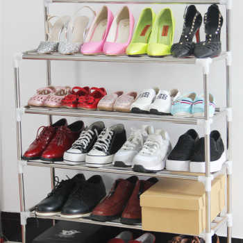 Shelves stainless steel shoe rack simple combination sub disassembly personality X1(China (Mainland))