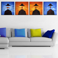 Buy 4PCS famous original paintings rene magritte wall paintings home decor idea oil painting art print canvas Framed ! for $22.94 in AliExpress store