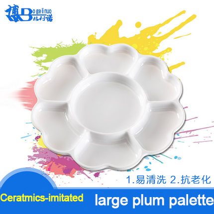 Bergino Large Ceramics-imitated Painting Palette Wateroolor Oil Painting Pigment Flower Shape Palette Paint Tray<br><br>Aliexpress