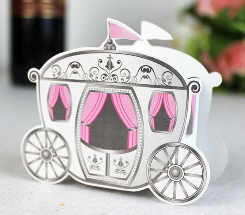 Cinderella Carriage Favor Boxes : Free shipping pcs cinderella quot enchanted carriage wedding