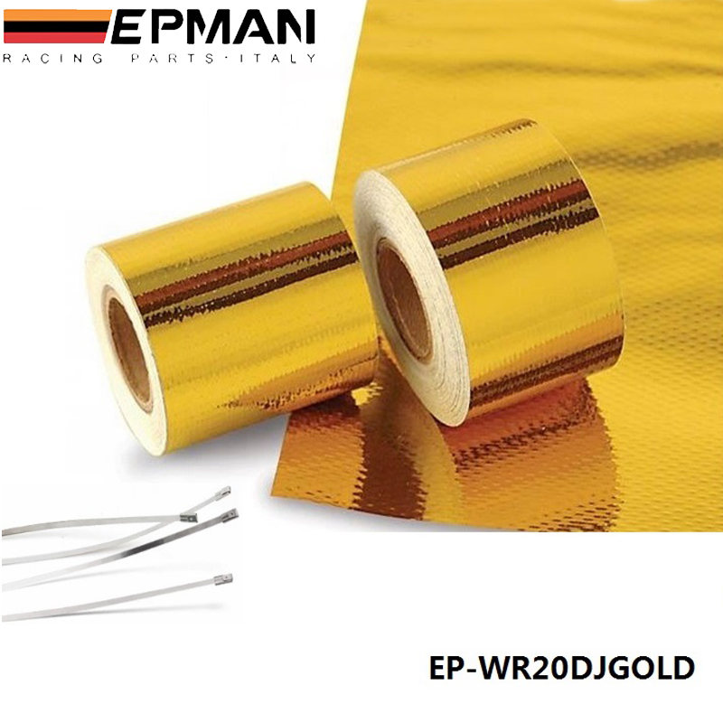 """EPMAN 2""""x5 Meter Reflect-A-Gold Tape Performance Heat Protection Tape/Barrier New Arrival Best EP-WR20DJGOLD(China (Mainland))"""