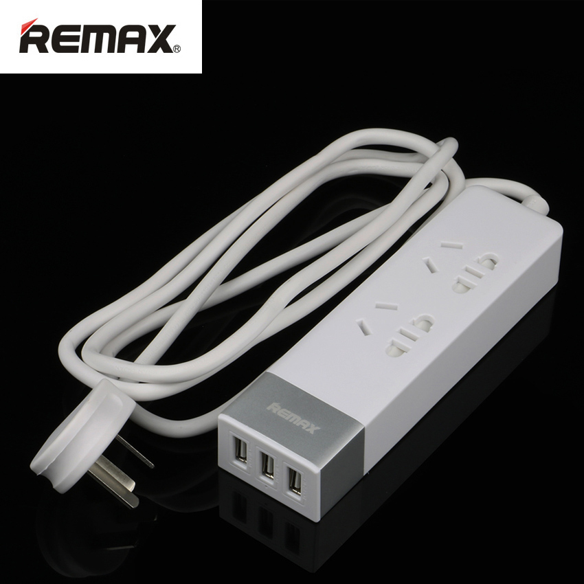 REMAX Smart Socket Charger 3 USB 2 Sockets Plugs AC Power Travel Adapter Fast Charging Extension Cable Socket Outlet for Phones(China (Mainland))