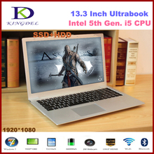 13.3 inch Ultrabook laptop Intel i5-5200U Dual Core CPU, 8GB RAM 128GB SSD,1080P, WIFI, Bluetooth, Metal Case,Windows 10(Hong Kong)