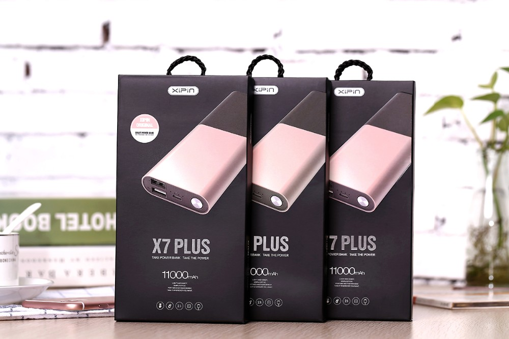 Original Xipin 11000mAh Portable Power Bank Mobile Phone and Tablet External Battery Backup Battery Charger  Dual USB
