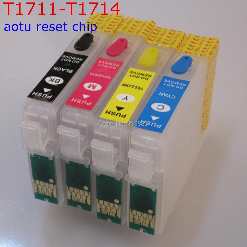 T1711 Refillable ink cartridge for EPSON  XP-103 XP-203 XP-207 XP-303 XP-306 XP-33 XP-406/XP-313/XP-413 printer Auto reset chip<br><br>Aliexpress