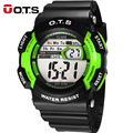 OTS Children Sports Watches LED Digital Fashion Boys And Girls Student Multifunctional Waterproof Wristwatches