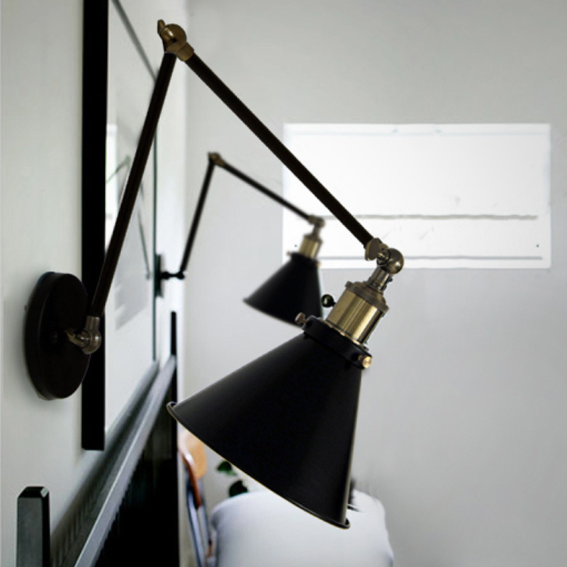 Wall Sconce With Long Arm : Retro Loft Industrial LED Vintage Wall Lamp light With Long Arm Wall Sconce Arandela De Pared ...