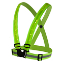 High visibility Reflection safety vest outdoor running cycling Vest harness reflective 3M fabric strip tap band