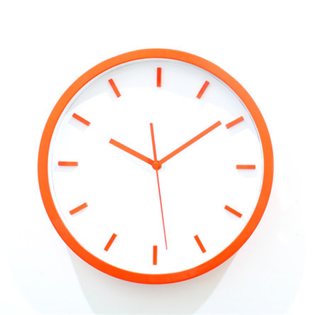 Simple 3D stereoscopic orange wall clock creative fashion watches quartz minimalist art of the 12-inch(China (Mainland))