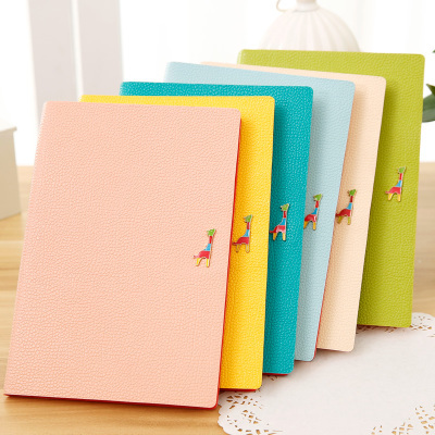 New Arrival Notebook Cool The Deer Leather With Handbook A4 B5 Notepad Korea School Supplies Stationery Cute Kawaii<br><br>Aliexpress