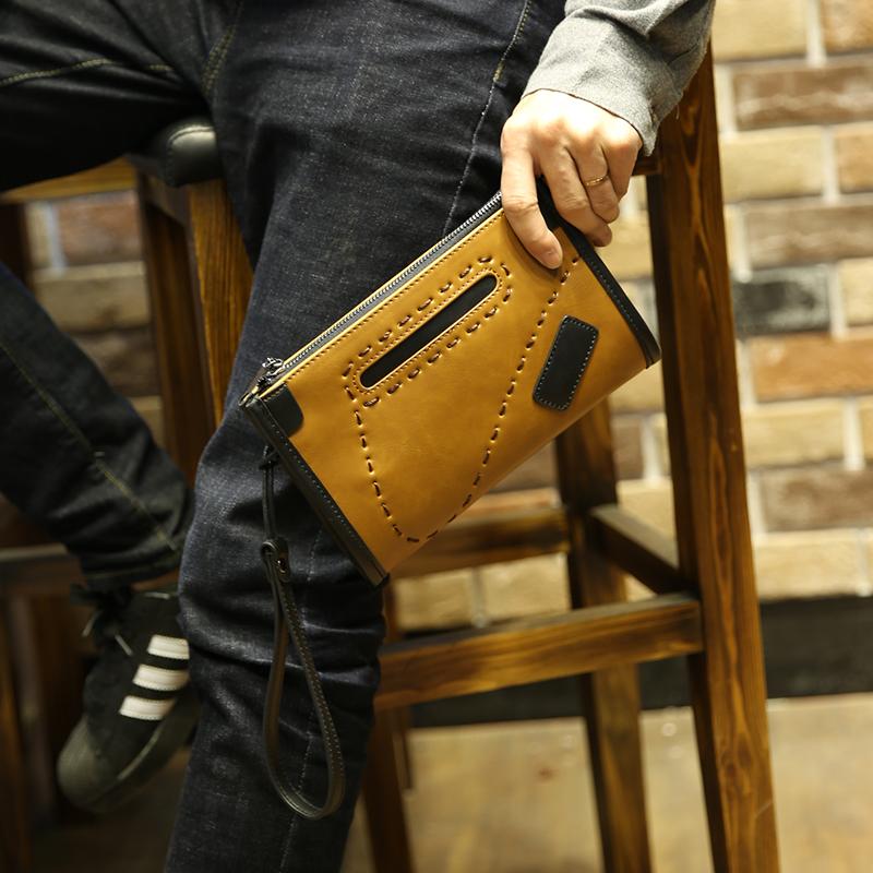 Fashion Vintage Design Men Wallet PU Leather Phone Clutch Bag Man Purse Quality Business Bags XP311(China (Mainland))