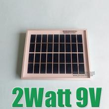 Hot Sale 2W 9V Polycrystalline silicon Solar Panel charge for 6V Solar cell Battery