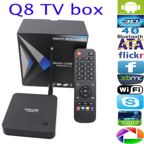 Q8 RK3288 2.4G+5G Dual Band wifi Quad Core 2G/8G Android TV BOX HDMI Antenna(China (Mainland))