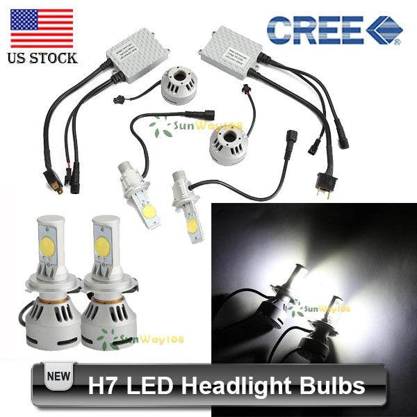 2PCS 32W H7 LED Headlight Bulbs High Power CREE 3200lm White 6500K Car Led Head Lamp Bulb(China (Mainland))