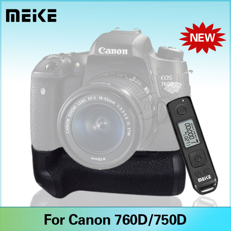 Meike MK-760D Battery Vertical Grip Built-in 2.4G LCD Display Wireless Remote Control Pro for Canon 750D 760D<br><br>Aliexpress