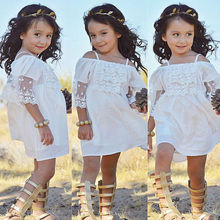 Buy Lace Girl Clothing Princess Dress Kid Baby Party Wedding Pageant Formal Mini Cute White Dresses Clothes Baby Girls for $4.86 in AliExpress store